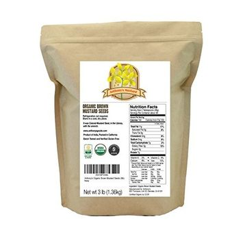 Anthony's Organic Brown Mustard Seeds, 3lbs, Gluten Free, Non GMO, Keto Friendly