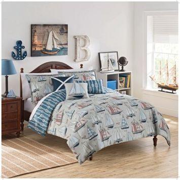 Set Sail Reversible Comforter Set - Waverly Kids