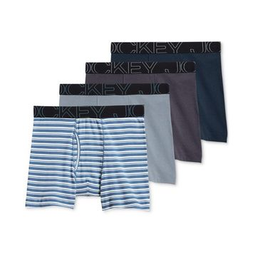 Men's 4-Pk. ActiveBlend Boxer Briefs