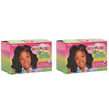 [ PACK OF 2] African Pride Dream Kids Olive Miracle Relaxer Kit, Regular 1 AP: Beauty