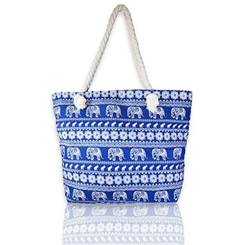 Basico Beach Tote Bag with Rope Handles
