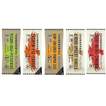 Thunderbird flavors Gluten Free Non-GMO Energy Bars 1.7oz each Bundle of 5 Different Flavor Bars