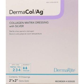 Dermarite Industries Dermacol Ag Silver Collagen Dressing, 2x2, 10 Count