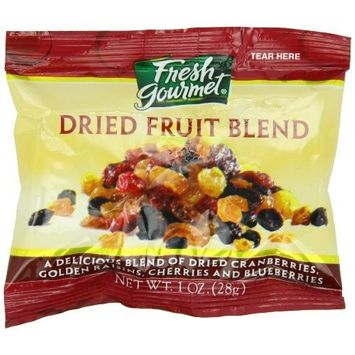 Fresh Gourmet Dried Fruit Blend For Oatmeal, 120 Count