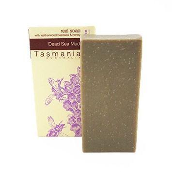 Dead Sea Mud Soap Bar 100% Natural & Organic Gourmet Ingredients Essential Oils & Leatherwood Honey | No Synthetic Chemicals | Deep Cleansing | Handmade in Tasmania Australia [Dead Sea Mud]