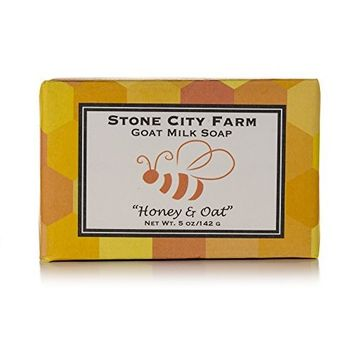 Honey & Oat Goat Milk Soap - 100% Natural 5 oz. Bar