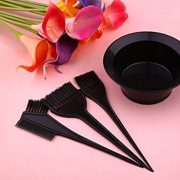 Fdrirect 4pcs/Set Brushs Small Brush Bowl Comb Coloring Kit Tint Tool Dye Hair Tool