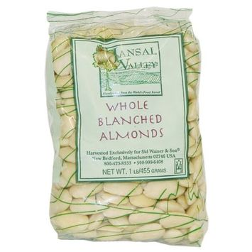 Jansal Valley Whole Blanched Almonds, 1 Pound