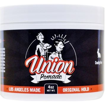 Union Hair Pomade 4oz Firm Medium Hold with Natural Shine - Water Based! All Day Hold, Paraben Free, Made in Los Angeles!