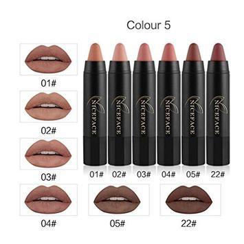 Lipstick, Hometom 6Pcs Long-lasting Velvet Matte Color Pencil Lipstick Crayon Makeup Set