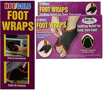 Medex Hot/Cold Therapy Foot Wraps Relieves Aches, Pain, & Improve Blood Circulation for Soothing, Tired, Sore Foot (Pack of 2)