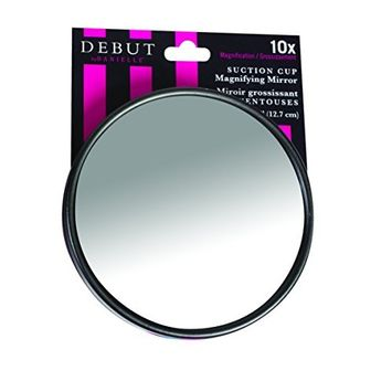 Debut by Danielle Suction Cup Mirror, 10X Magnifying