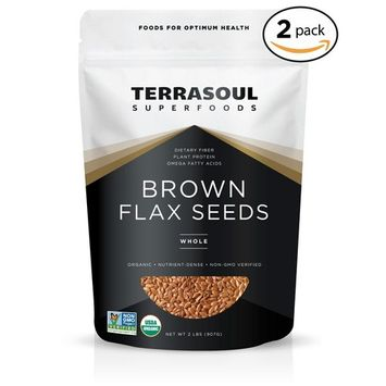 Terrasoul Superfoods Organic Brown Flax Seeds, 4 Pound [Brown]