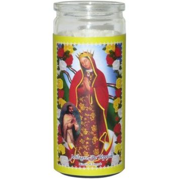 Small Miracle of Tepeyak Prayer Candle, Yellow
