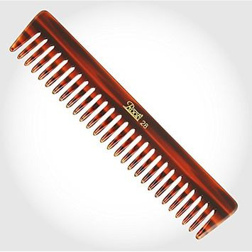 Unisex Brown Wide Roots Teeth Comb for Wavy Curly Medium Length Hair seamless round tip