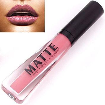 SMTSMT Long Lasting Liquid Lipstick Waterproof Matte Metal Lip Gloss Lip Liner