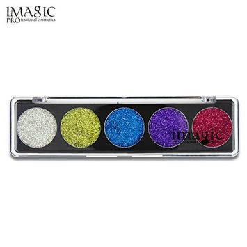 Fenleo 5 Colors Long-lasting Shimmer Glitter Eye Shadow Powder Palette Matte Eyeshadow Cosmetic Makeup
