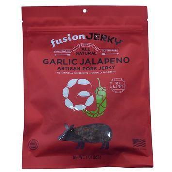 Fusion Jerky - All Natrual - 3 Ounce Bag (Garlic Jalapeno, 3 Bags)