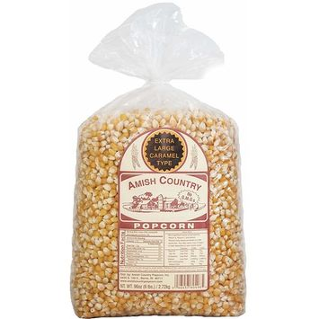 Amish Country Popcorn - Extra Large Caramel Popcorn (6 Pound Bag) - Old Fashioned And Non-GMO With Recipe Guide