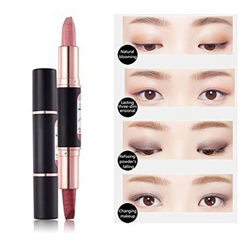 Eyeshadow Pen Double-headed 2 Colors Silkworm Eyeshadow Pen Lasting Anti-sweat