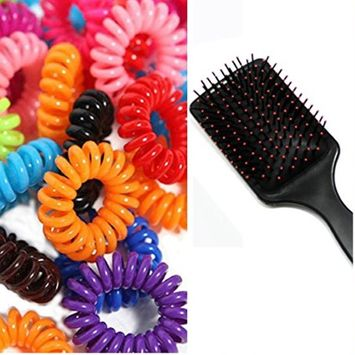 One & Only Premium Massager Hair Brush With Fancy Hair Accessories Hair Ties