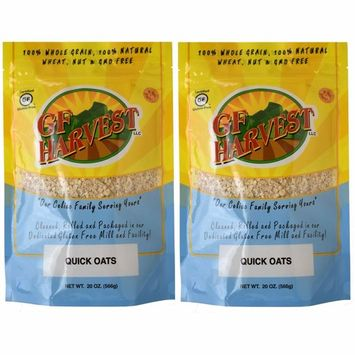 GF Harvest Quick Oats, Gluten Free, 20-Ounce Bag (Pack of 2)