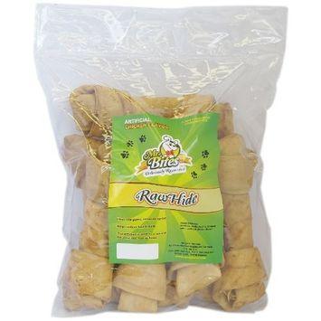 Mr Bites 9-Inch Rawhide Bone for Dogs, Chicken Flavor, 8-Pack