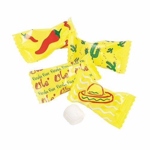 Fun Express - Fiesta Wrapped Buttermint for Cinco de Mayo - Edibles - Mints - Buttermints - Cinco de Mayo - 108 Pieces