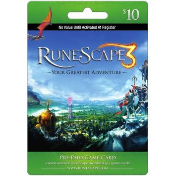 Interactive Comm Consign Jagex - Runescape Prepaid Game Card ($10)