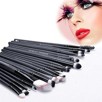 eshion 20 Pieces Makeup Brush Set Professional Face Eye Shadow Eyeliner Foundation Blush Lip Makeup Brushes Powder Liquid Cream Cosmetics Blending Brush Tool (COFFEE)