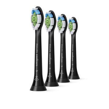 Philips Sonicare DiamondClean replacement toothbrush heads, HX6064/95, BrushSync technology, Black 4-pk