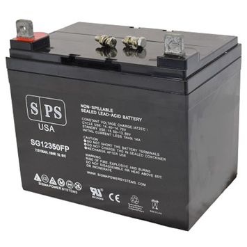 SPS Brand 12V 35Ah Replacement battery for Electric Mobility Turnabout Scooters