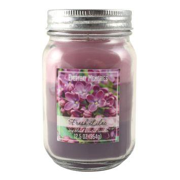 Everyday Memories Fresh Lilac 12.5-oz. Tri-Pour Candle Jar, Purple