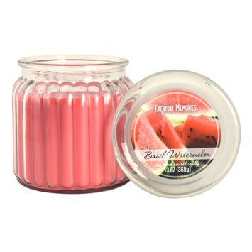 Everyday Memories Basil Watermelon 13-oz. Candle Jar, Pink
