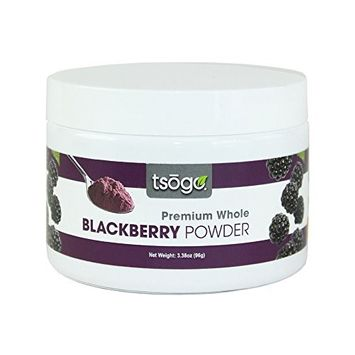 Tsogo Premium Blackberry Powder, 96g, 48 Total Servings, Fruit Smoothies - No Added Flavors, Fillers or Sugars