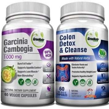 Greenatr Colon Detox Cleanse Pure Garcinia Cambogia Extract-Now sold together as a SUPER WEIGHT LOSS BUND