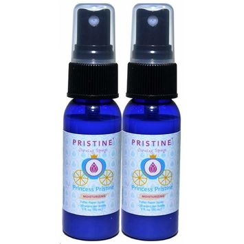 Pristine Sprays Moisturizing Cleansing Toilet Paper Potty Training Spray: The More Natural Alternative to Flushable Wet Wipes, Great for Cloth Diapers - Princess Pristine 2 Pack (1 oz Each)