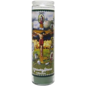 7 African Powers Scented Candle, Green