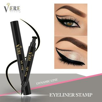 Winged Eyeliner Stamp – 1 Left Wing Stamp with Eyeliner Pen and 1 Right Wing Stamp with Eyeliner Pen for Precise and On Trend Long Lasting Eyeliner Application – Smudge Proof and Waterproof