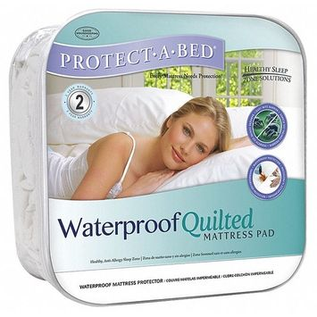 Protect-A-Bed QuiltGuard Cotton King-size Mattress Pad ...