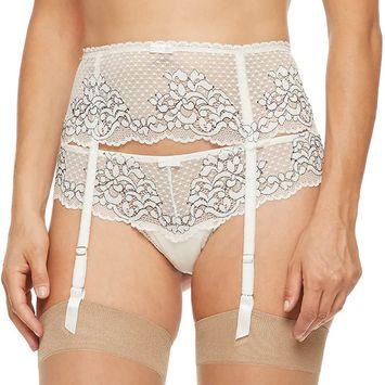 Women's Montelle Intimates Lace Garter Belt 9047