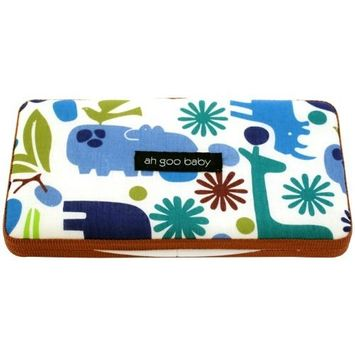 Ah Goo Baby Wipes Case, On-the-Go Travel Size, Zoo Frenzy Pattern