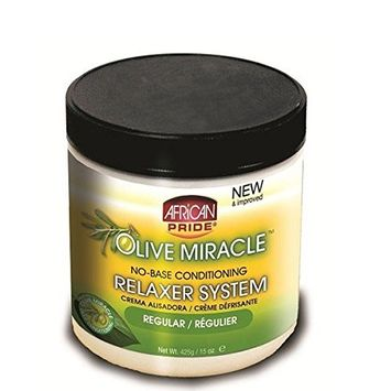 AFRICAN PRIDE OLIVE MIRACLE NO-BASE CONDITIONING RELAXER (REGULAR) 15oz