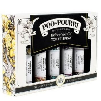 Poo-Pourri in A Pinch Pack Toliet Spray Gift Set 5 Piece