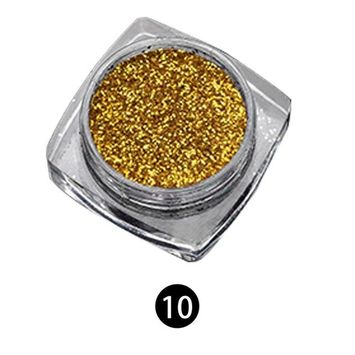 Echou Nail art Decoration Nail Salon, Glitter Nail Art Effect Powder Dust Holographic Shimmer Nail Starry, for DIY Nail Crafts, Parties Nail Decoration (E)