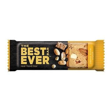 Best Bar Ever, Protein Bars, Peanut Butter Crunch, 40g Bars (Box of 12), Premium Whey Protein Bars with 10 Grams of Protein, Naturally Sweet, Real Food Ingredients, Nutritionally Balanced