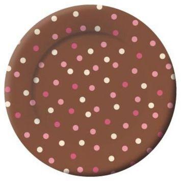 Blush Dots 8-inch Plates