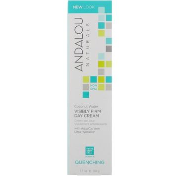 Andalou Naturals, Coconut Water Visibly Firm Day Cream, Quenching, 1.7 fl oz (50 g)