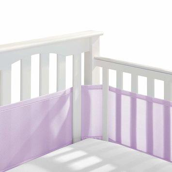 BreathableBaby Classic Breathable Mesh Crib Liner - Lavender [Slatted & Solid-Back Crib]