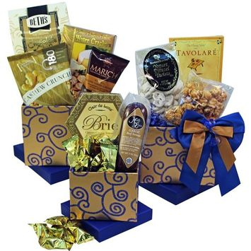 Crowd Pleaser Gourmet Meat, Cheese and Snacks Gift Tower (Candy Option)